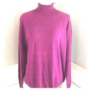 NWT Talbots Black Label Magenta Sweater SZ 3X P